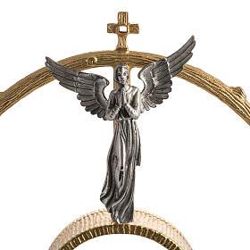 Ostensorio in bronzo dorato con angeli h 60 cm s3