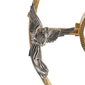 Ostensorio in bronzo dorato con angeli h 60 cm s5