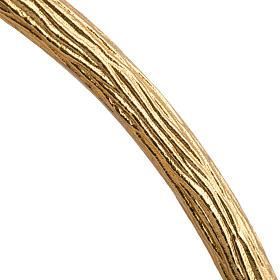 Ostensorio in bronzo dorato con angeli h 60 cm s9