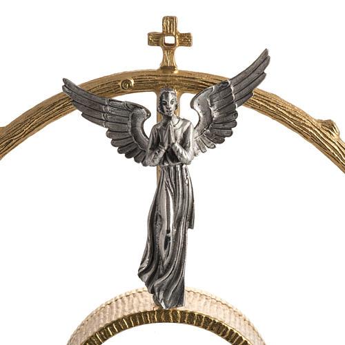 Ostensorio in bronzo dorato con angeli h 60 cm 3