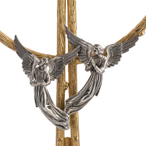 Ostensorio in bronzo dorato con angeli h 60 cm 6
