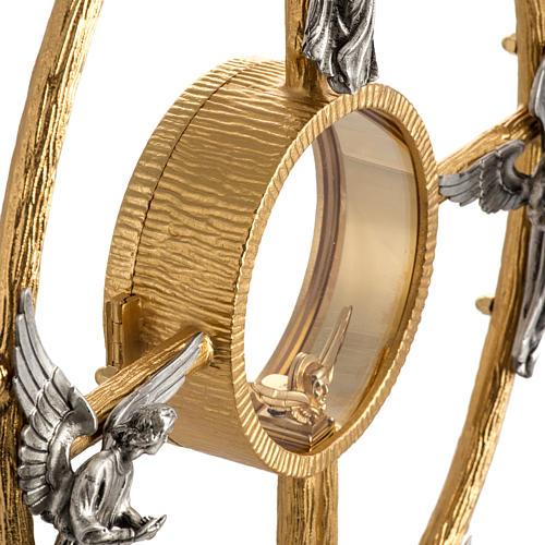 Ostensorio in bronzo dorato con angeli h 60 cm 11