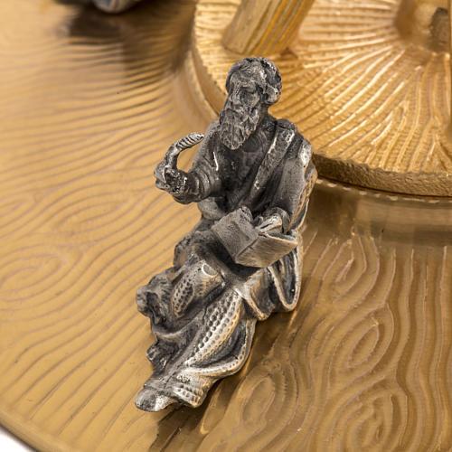 Ostensorio in bronzo dorato con angeli h 60 cm 14