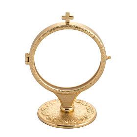 Monstrances, Chapel monstrances, Reliquaries in metal: Chapel monstrance in brass for big host