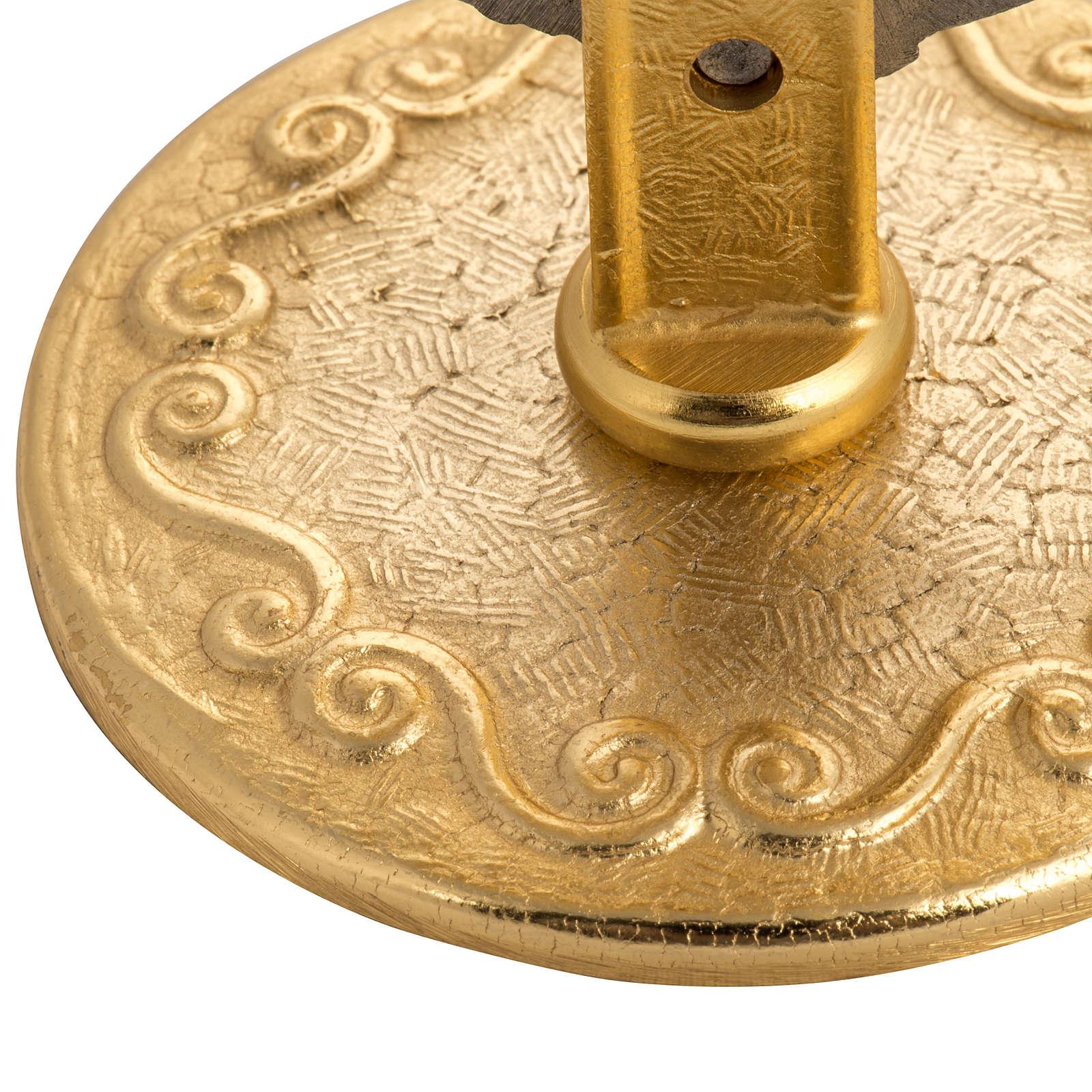 Teca per ostia magna ottone h 14 cm con angioletto 4