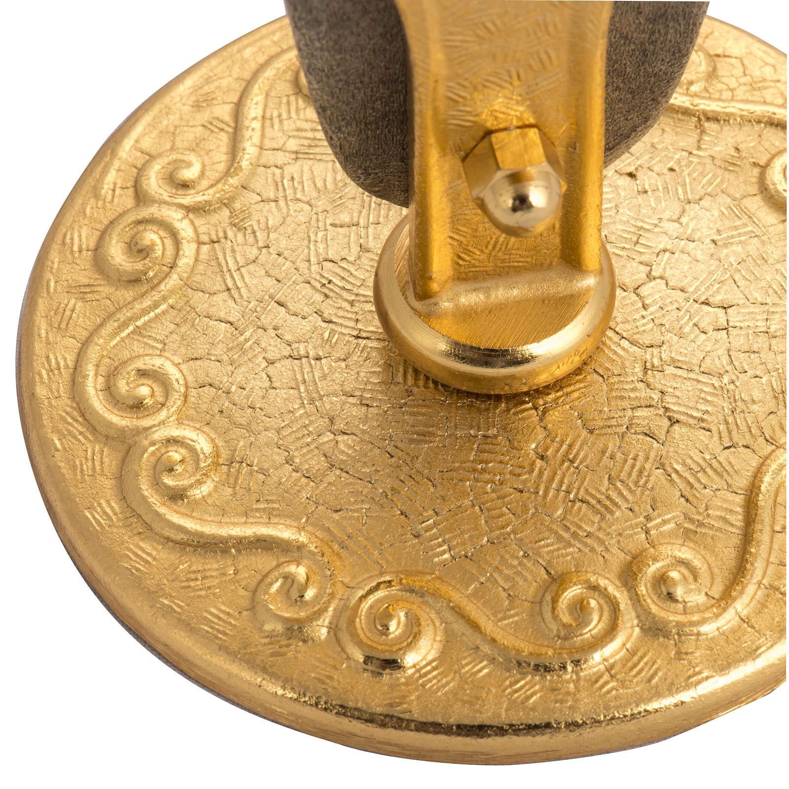 Teca ostia magna ottone dorato IHS 4