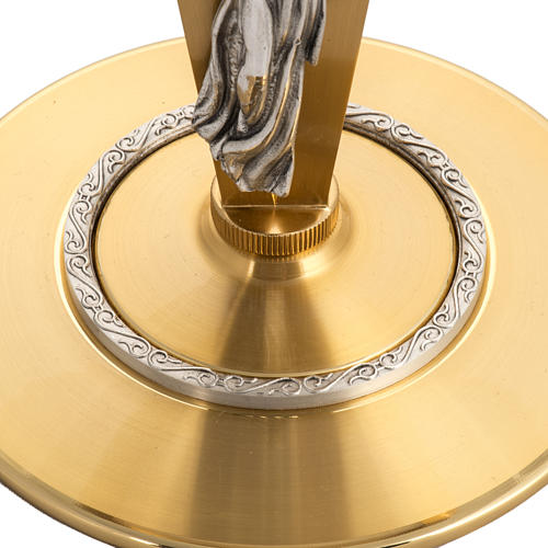 Ostensorio para hostia magna diam 15 cm con ángel 3