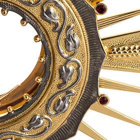 Ostensorio ottone con santo in bronzo s2
