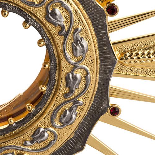 Ostensorio ottone con santo in bronzo 2