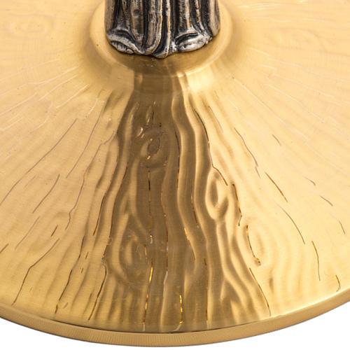 Ostensorio ottone con santo in bronzo 4