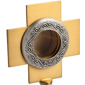 Reliquary in silver-plated brass with edgold-plat cross s3