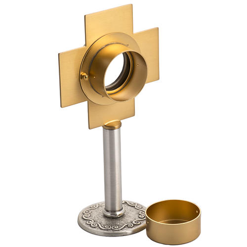 Reliquary in silver-plated brass with edgold-plat cross 4