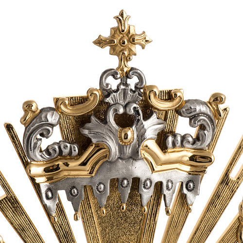 Two tone monstrance with putti and red stones 3