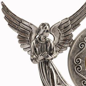 Reliquiario ottone argentato angeli s4