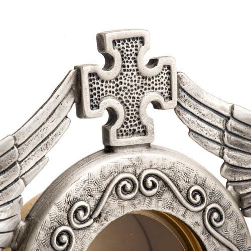 Reliquiario ottone argentato angeli 5