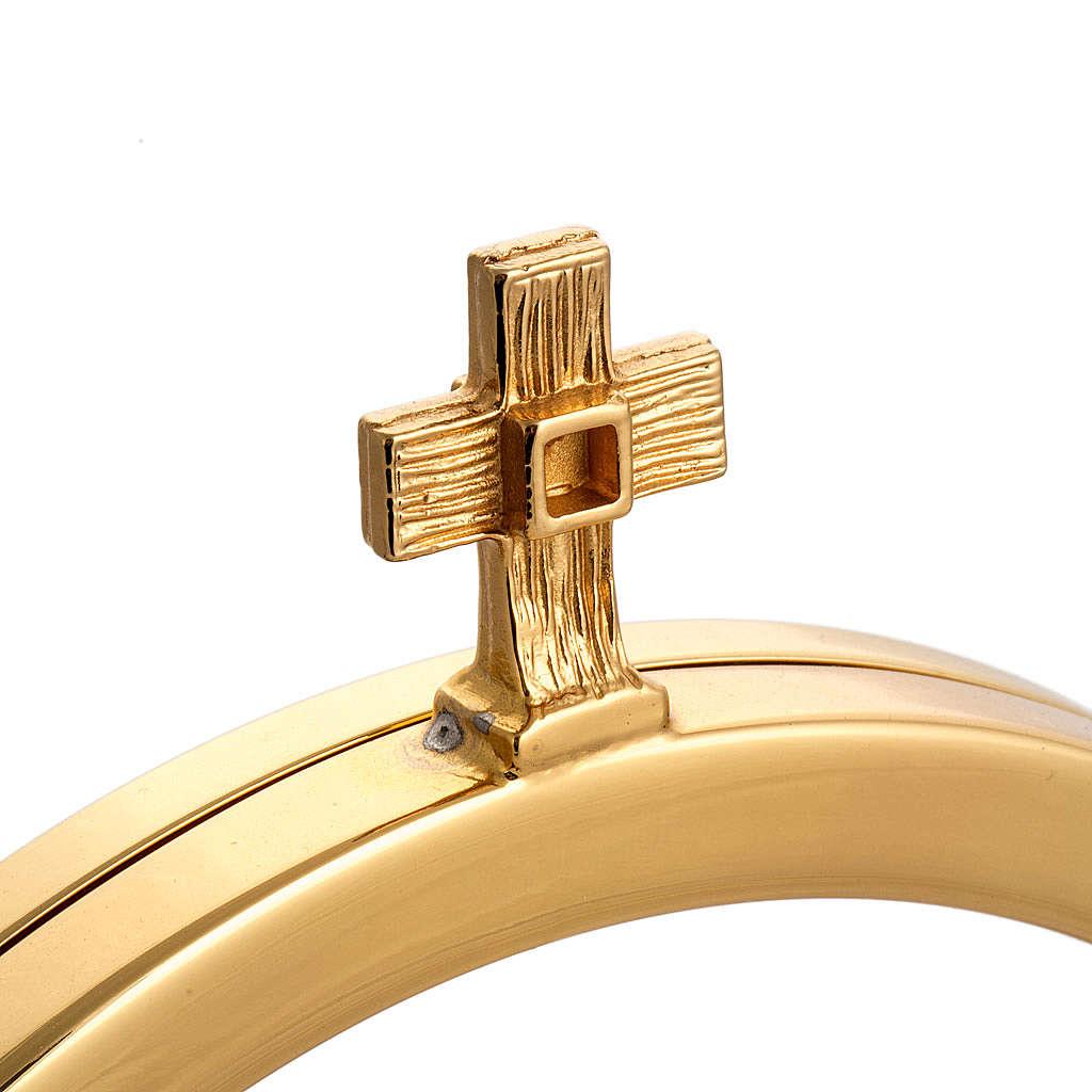 Two tone chapel monstrance in brass 4