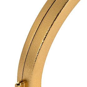 Ostensorio latón dorado para hostias de 15 cm s4