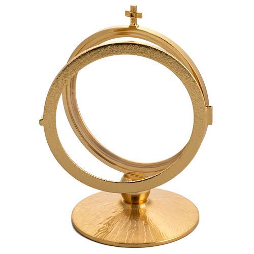 Ostensorio latón dorado para hostias de 15 cm 3
