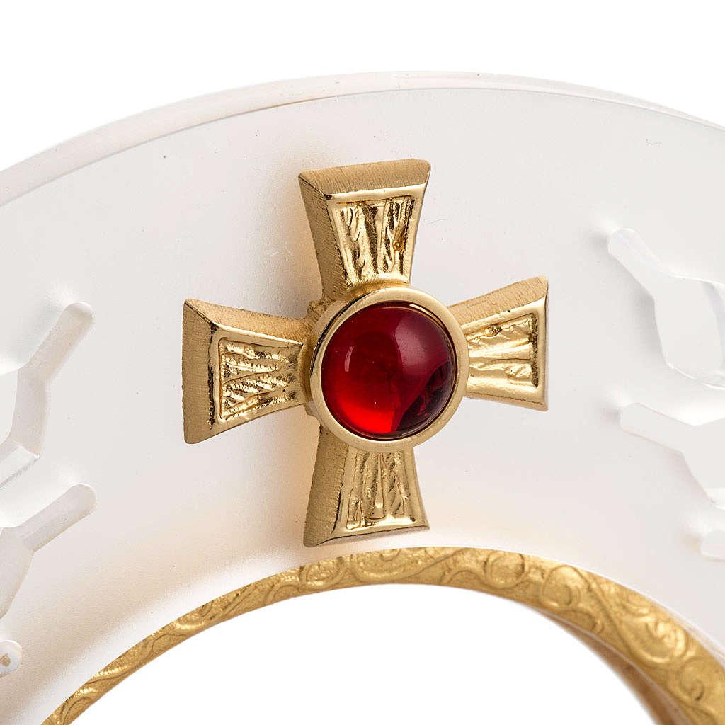 Ostensorio latón y plexiglás y cruz con piedra 4