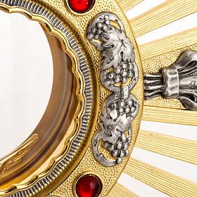 Ostensorio bronce fundido Evangelistas lirios 55 cm alto s4