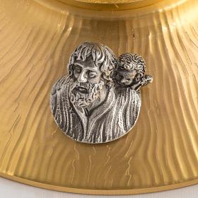 Ostensorio bronce fundido Evangelistas lirios 55 cm alto s6