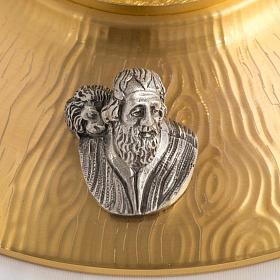 Ostensorio bronce fundido Evangelistas lirios 55 cm alto s7