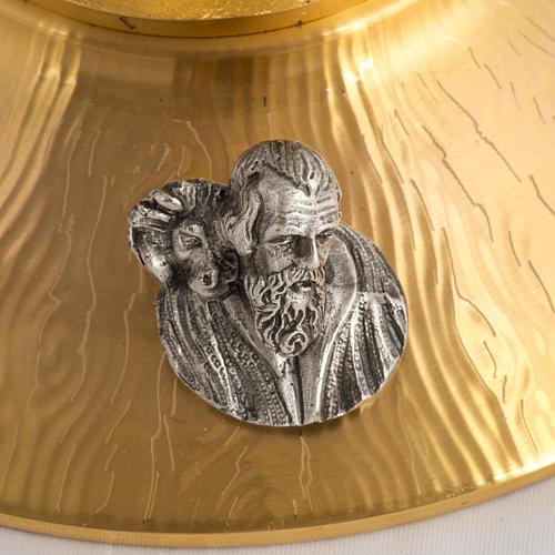 Ostensorio bronce fundido Evangelistas lirios 55 cm alto 9