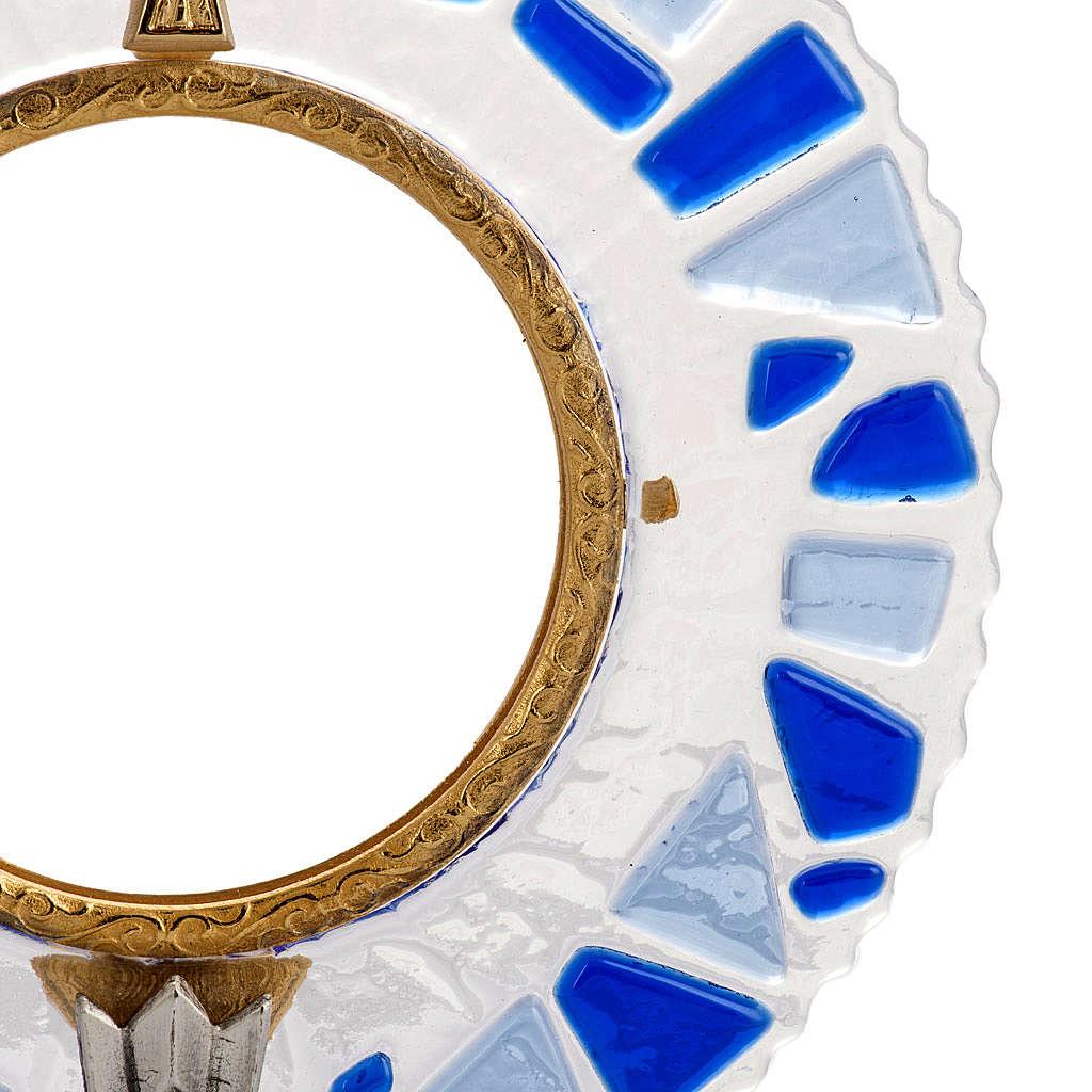 Ostensorio ottone vetro in mosaico 4