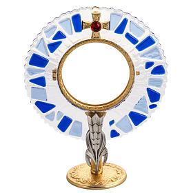 Ostensorio ottone vetro in mosaico s1