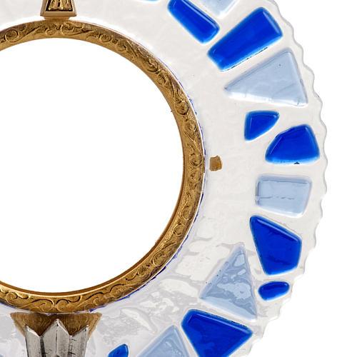 Ostensorio ottone vetro in mosaico 2