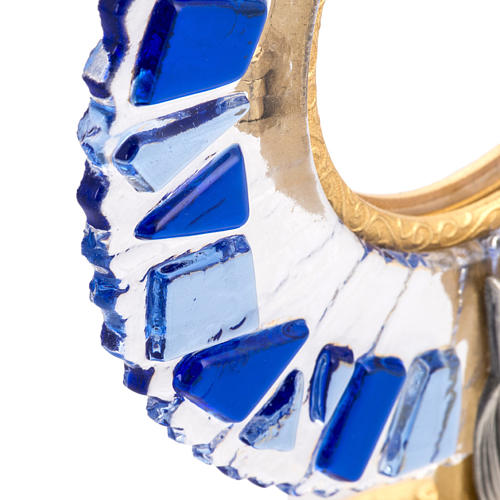 Ostensorio ottone vetro in mosaico 5