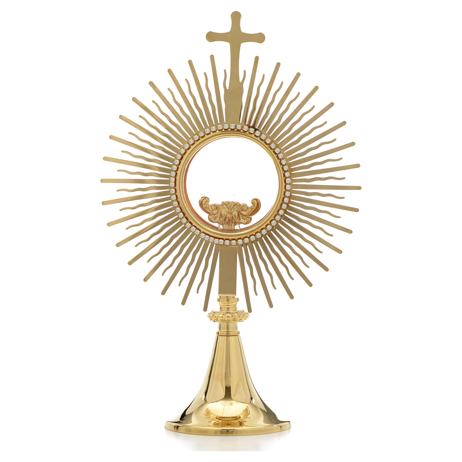 Monstrance,sun shaped, height 34cm, 8cm display case 4