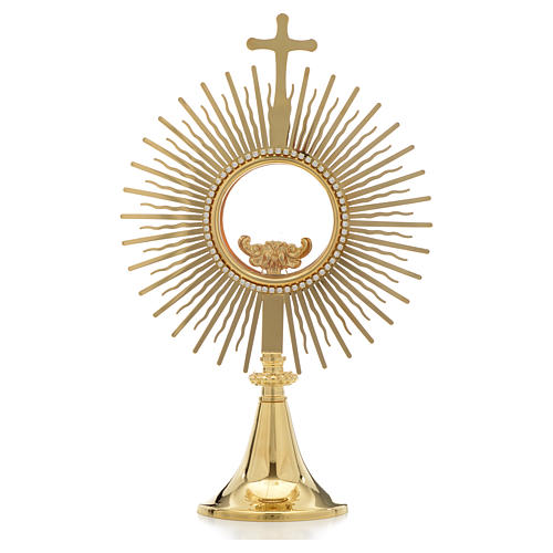 Monstrance,sun shaped, height 34cm, 8cm display case 1