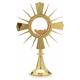 Monstrance with rhinestones, height 33cm, 8cm display case s1