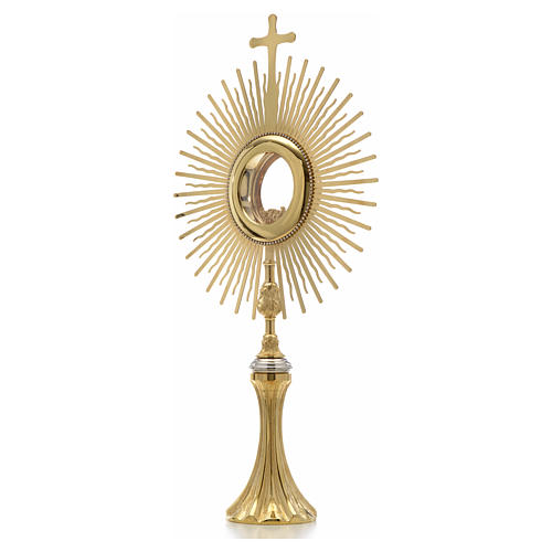 Monstrance, sun shaped, height 75 cm with 10cm  display case 2