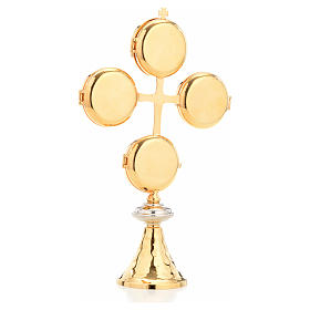 Reliquary with cross and 4 display cases s3