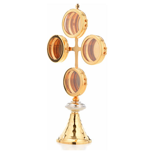 Reliquary with cross and 4 display cases 2