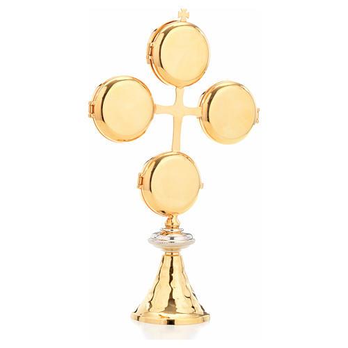 Reliquaire croix 4 petits coffrets 3