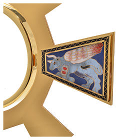Monstrance in brass and enamel  s9