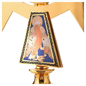 Monstrance in brass and enamel  s4
