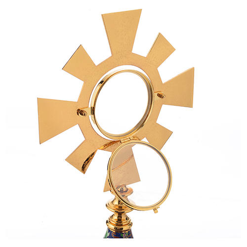 Monstrance in brass and enamel  5