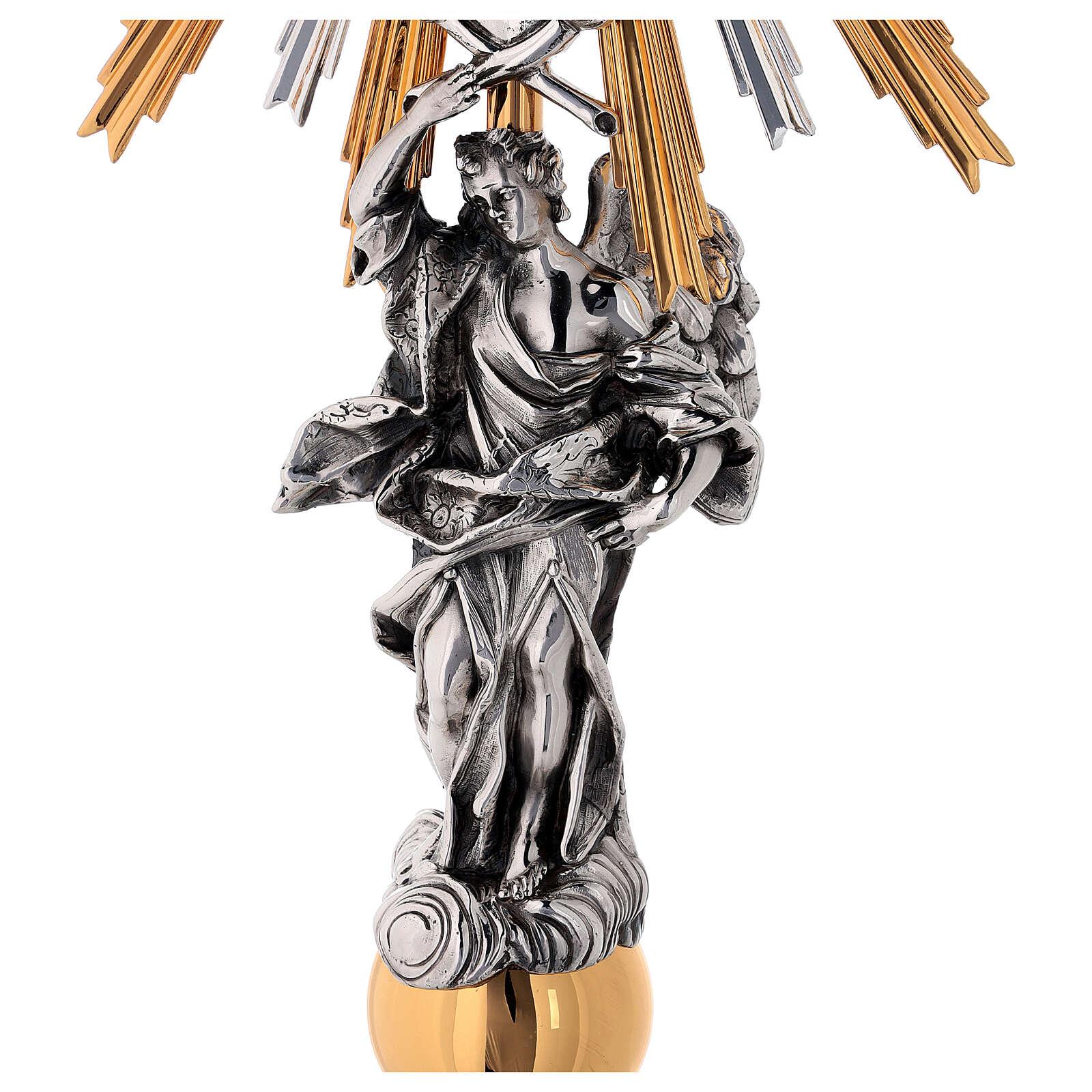 Custodia latón Swarovski estilo barroco con ángel 4