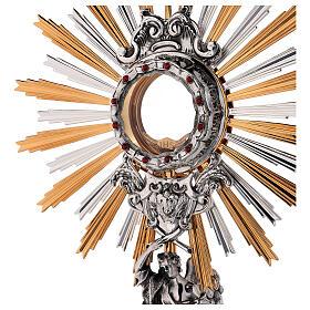 Custodia latón Swarovski estilo barroco con ángel s2