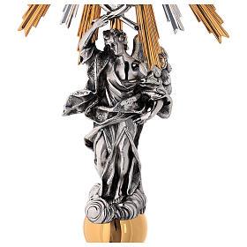 Ostensorio ottone Swarovski stile barocco con angelo s4