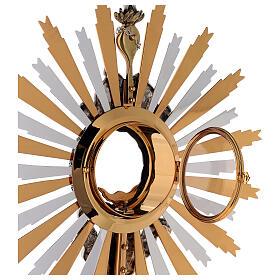 Ostensorio ottone Swarovski stile barocco con angelo s8