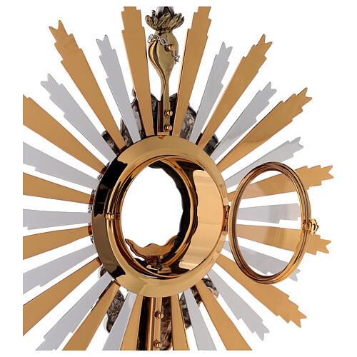Ostensorio ottone Swarovski stile barocco con angelo 8