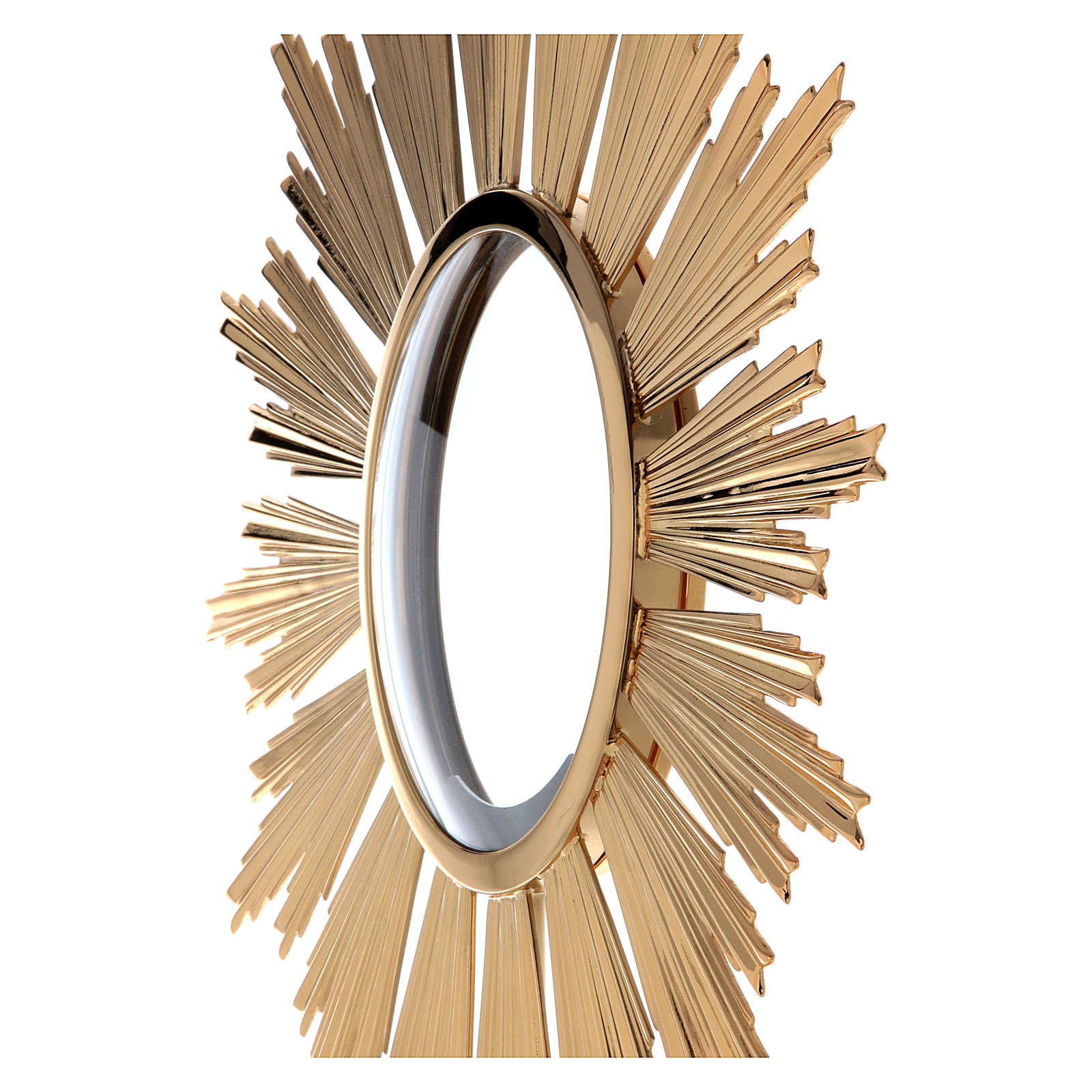 Ostensorio per Ostia Magna ottone dorato h 69 cm 4
