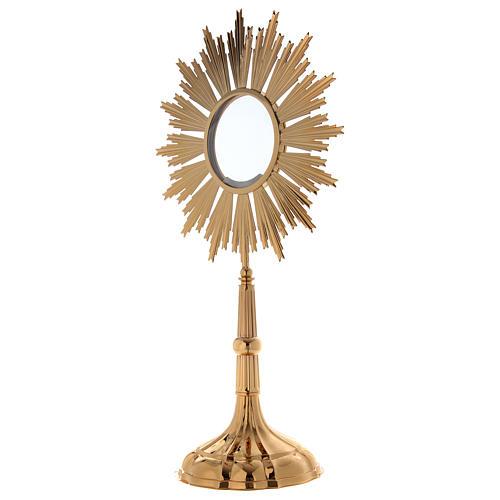 Ostensorio per Ostia Magna ottone dorato h 69 cm 2