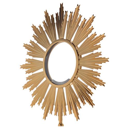 Ostensorio per Ostia Magna ottone dorato h 69 cm 3
