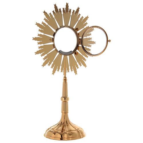 Ostensorio per Ostia Magna ottone dorato h 69 cm 5